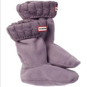 Hunter Boot Socks Cable Knit Purple medium